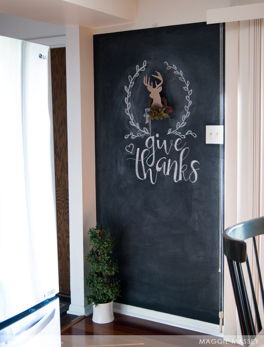 Thanksgiving Inspiration with the Heidi Swapp Buck Wall Shape