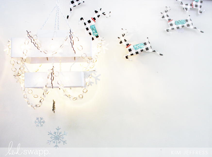 Kim Jeffress for Heidi Swapp Chritsmas Marquee Love chandelier