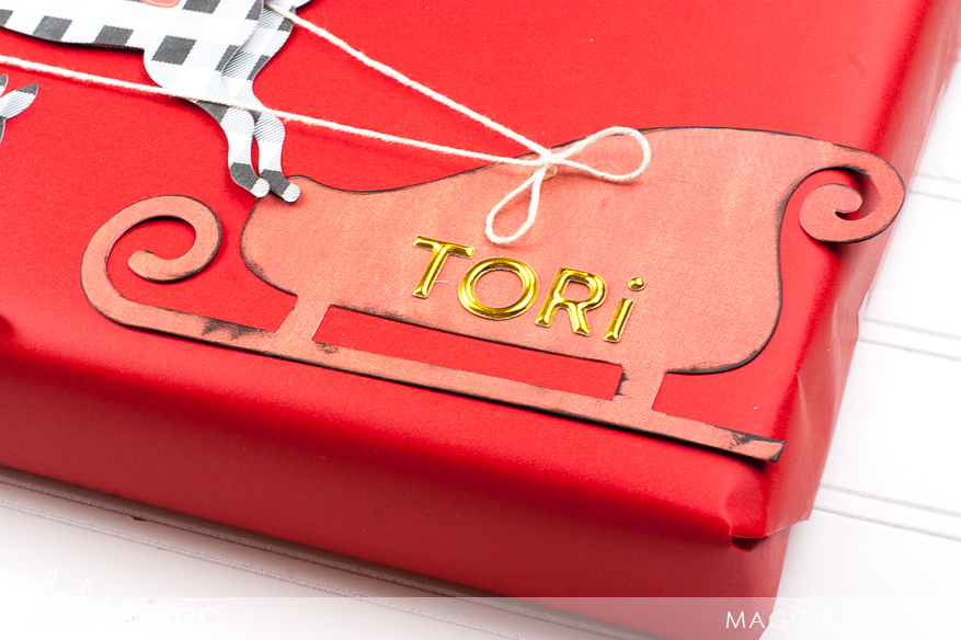 Use Your Marquee Love Christmas Banners on Your Gift-Wrapping! | @MaggieWMassey for @HeidiSwapp