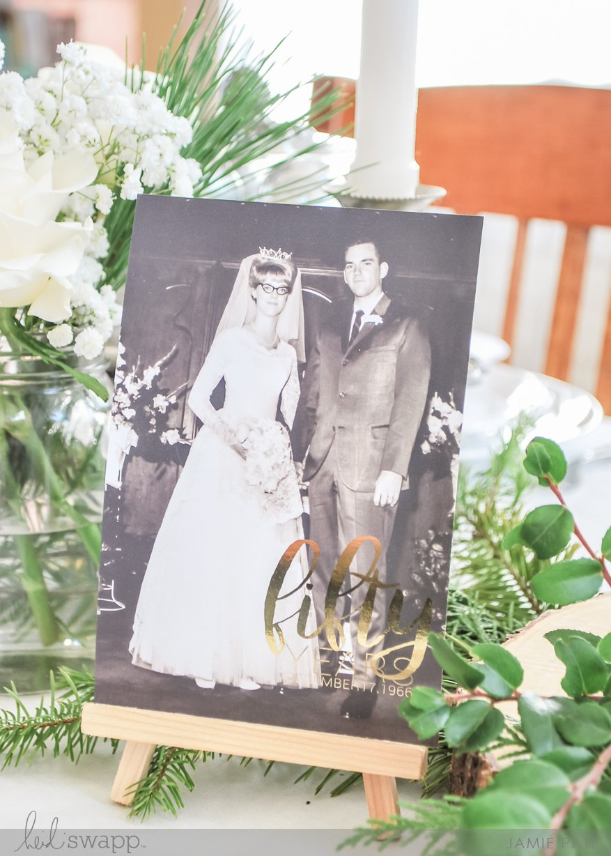 Celebrating 50th Wedding Anniversary by Jamie Pate for Heid Swapp | @jamiepate for @heidiswapp