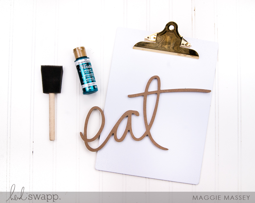 Quick & Easy Pantry Decor with Wall Words   @MaggieWMassey for @HeidiSwapp