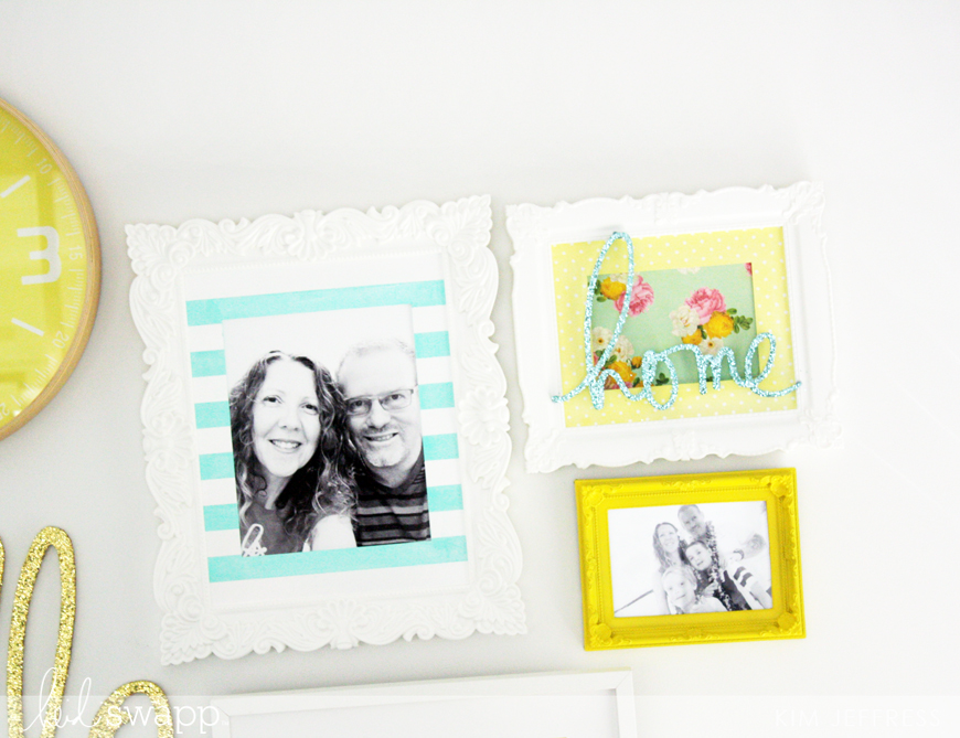 Kim Jeffress for Heidi Swapp DIY gallery wall