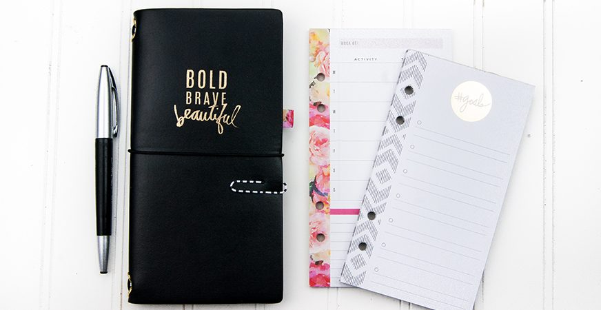 Documenting 2017 Goals :: Heidi Swapp Memory Planner Traveler's Notebook | @MaggieWMassey for @HeidiSwapp