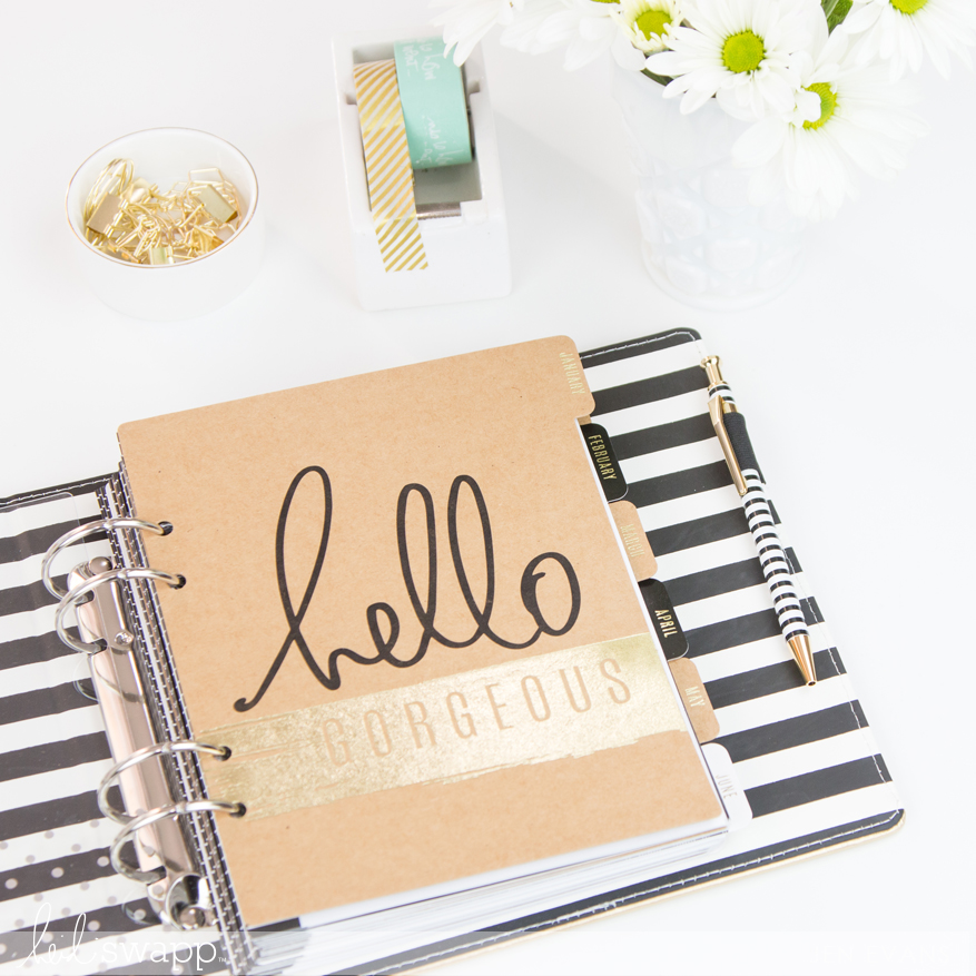 Heidi Swapp 2017 Large Memory Planner inspiration pages by @createoften