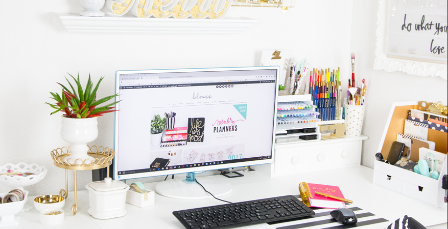 Office and Craft Room Makeover by @createoften for @heidiswapp