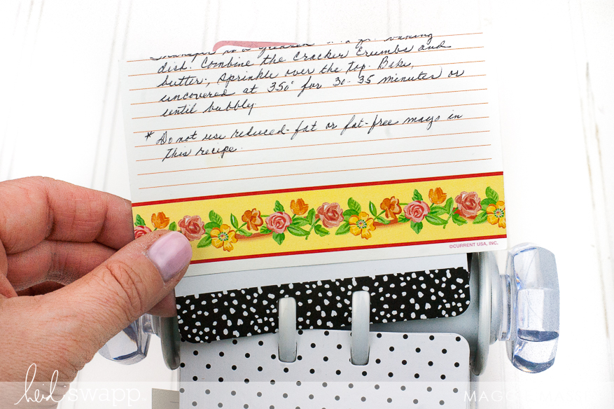 Heidi Swapp Memory Dex Menu Planner/Recipe Book | Maggie Massey for Heidi Swapp