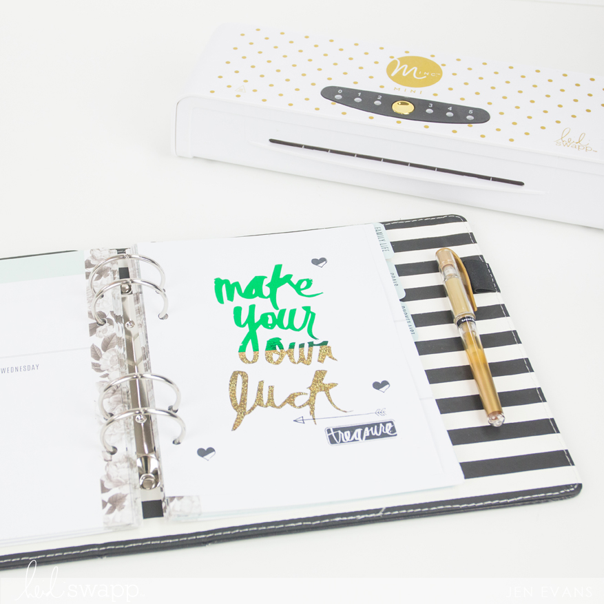 Heidi Swapp Memory Planner March Saint Patrick's Day freebie planner printable to foil through the Minc by @createoften for @heidiswapp