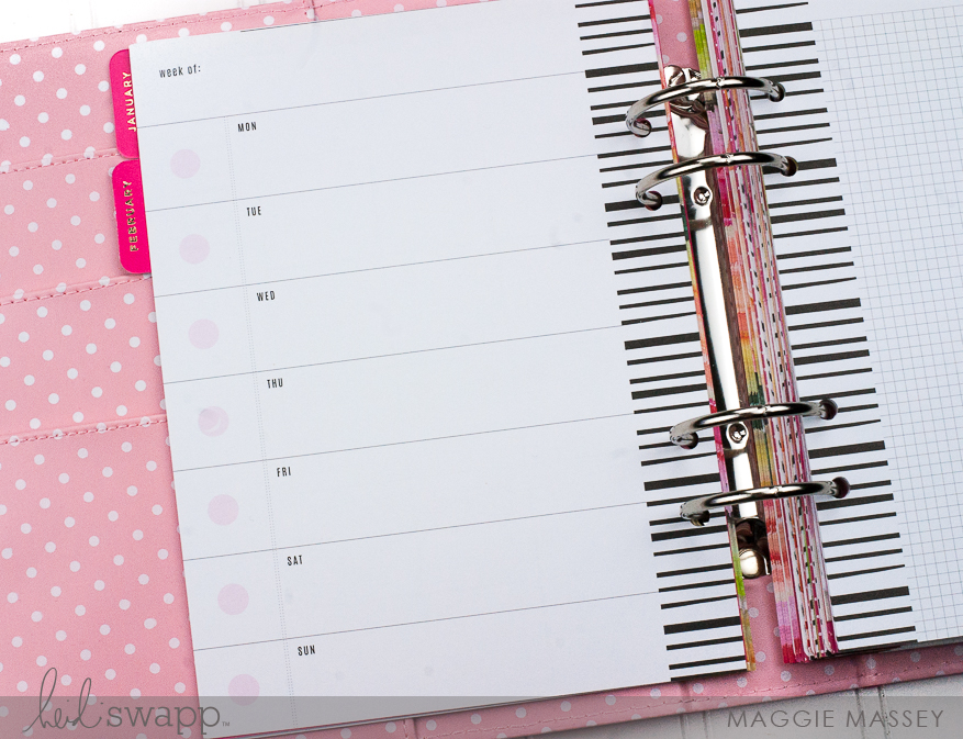 How I'm using my Heidi Swapp (Hobby Lobby) 2017 Memory Planner to keep track of work | @MaggieWMassey for @HeidiSwapp