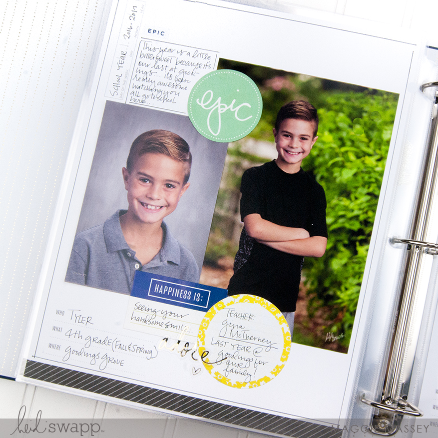 Documenting School Photos with Heidi Swapp's Storyline Collection   Maggie Massey for Heidi Swapp