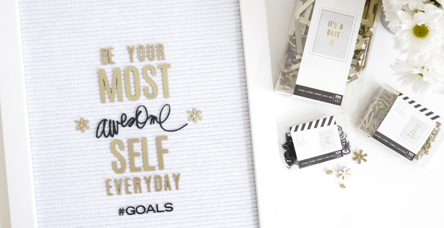 Heidi Swapp Letterboard Positive Messages by Jamie Pate | @jamiepate for @heidiswapp