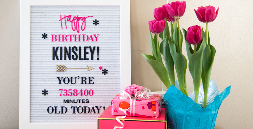 Happy Birthday Letterboard & Storage! | Maggie Massey for Heidi Swapp