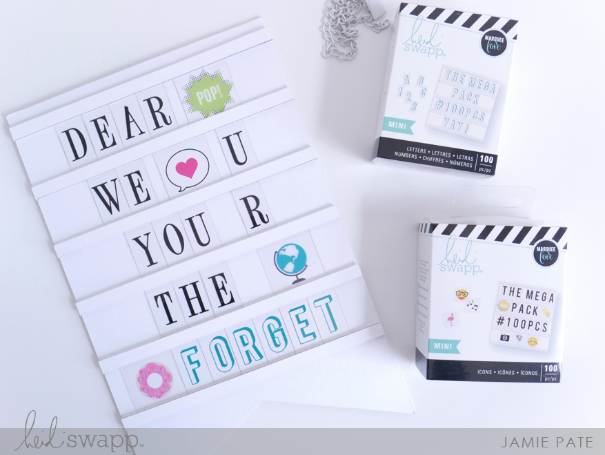 New Heidi Swapp DIY Sign Banner for Father's Day by Jamie Pate | @jamiepate for @heidiswapp