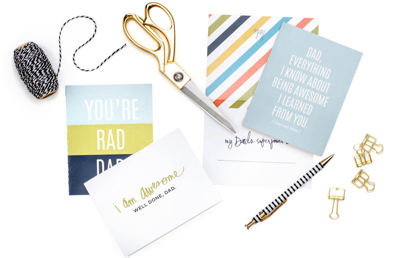 Free Printable Father's Day Card - by Heidi Swapp