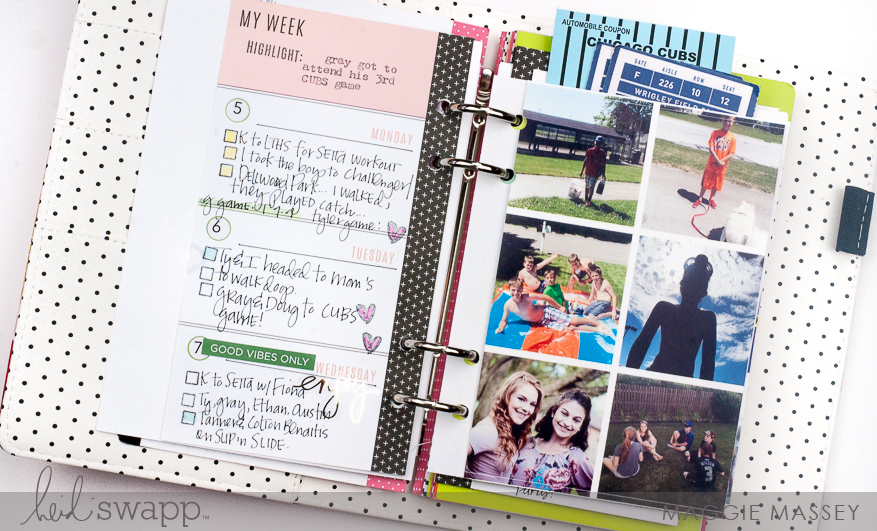 A look at June 2017 in my Memory Planner   Maggie Massey for Heidi Swapp