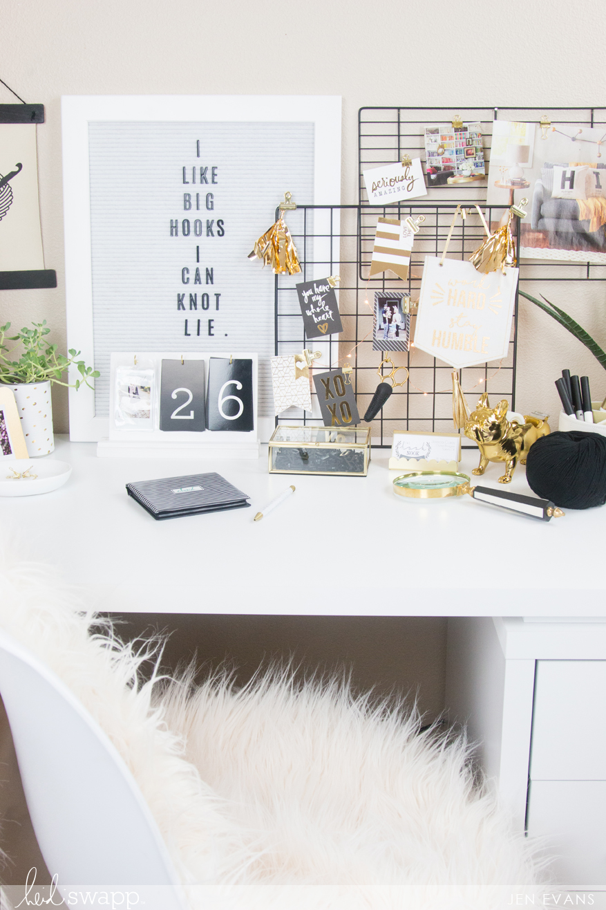 4 Tricks to Transform Your Craft or Office Space by @createoften for @thehooknook @heidiswapp