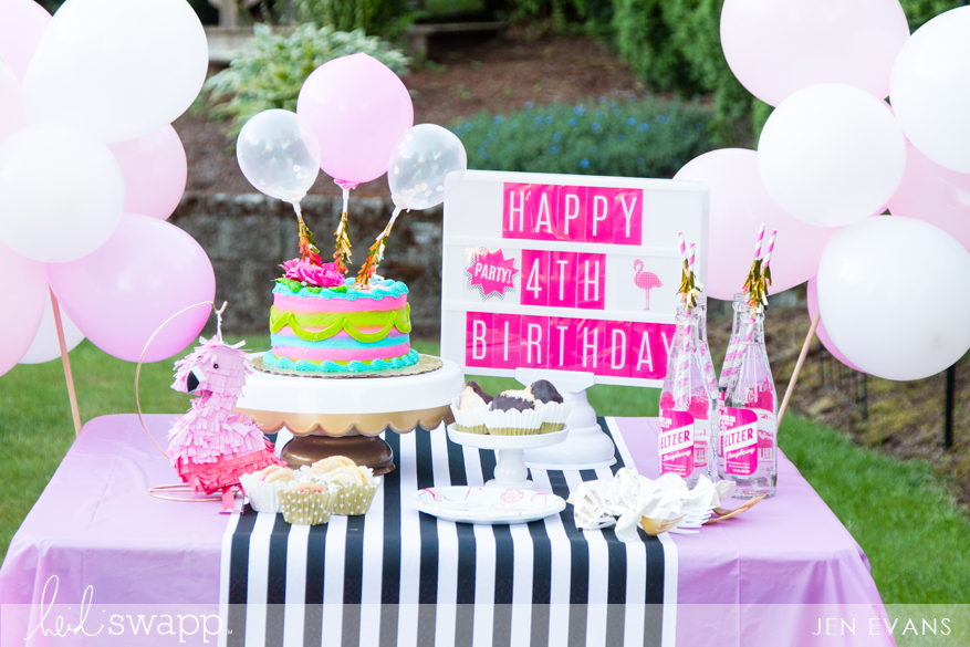 Girl's birthday party inspiration using @heidiswapp Lightbox by @createoften