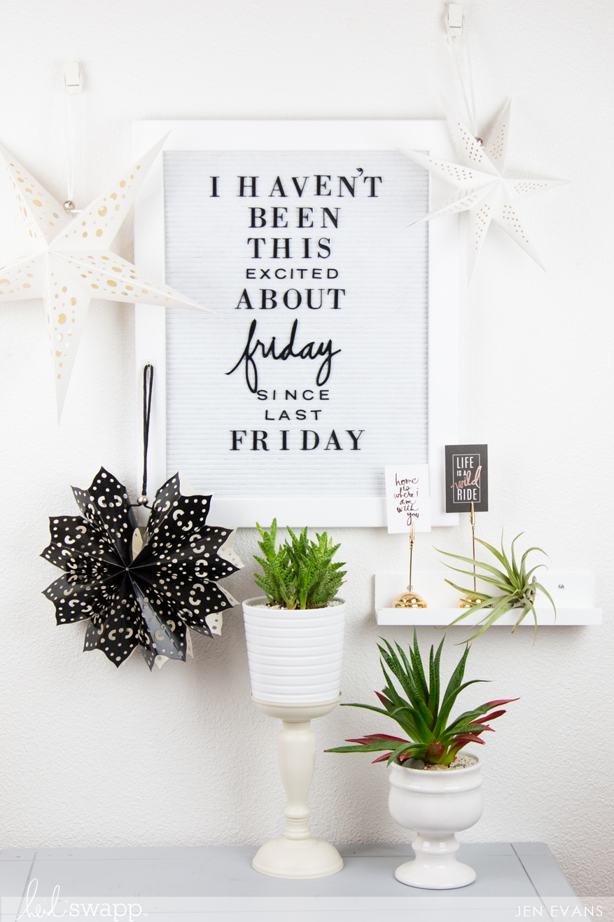 Heidi Swapp Letterboard home decor and inspirational quote by @createoften for @heidiswapp