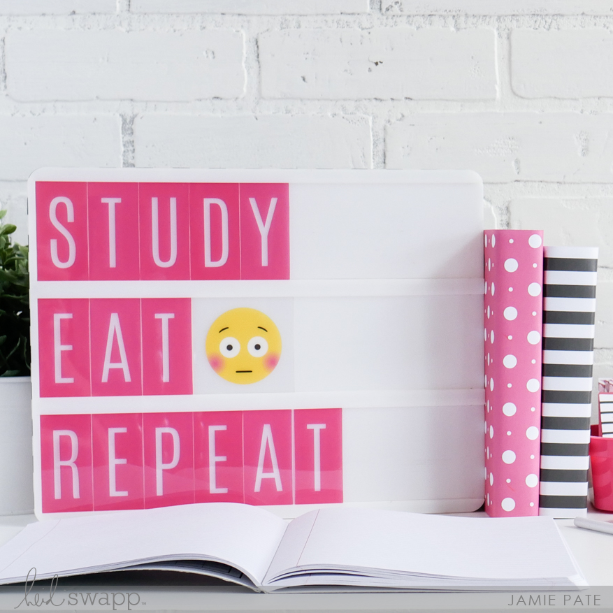 Heidi Swapp Lightbox and Back to School by Jamie Pate | @jamiepate for @heidiswapp