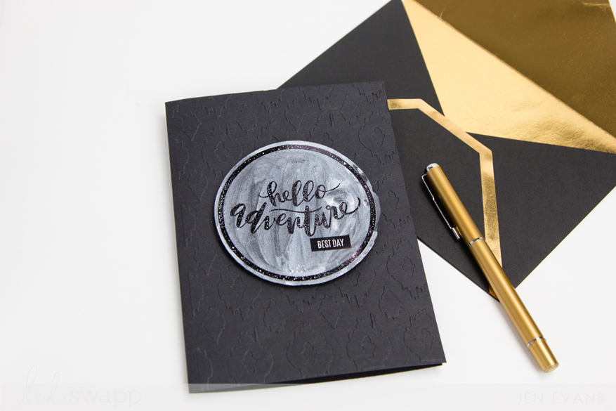 Foiled design makes a watercolor resist. Tutuorial by @createoften for @heidiswapp
