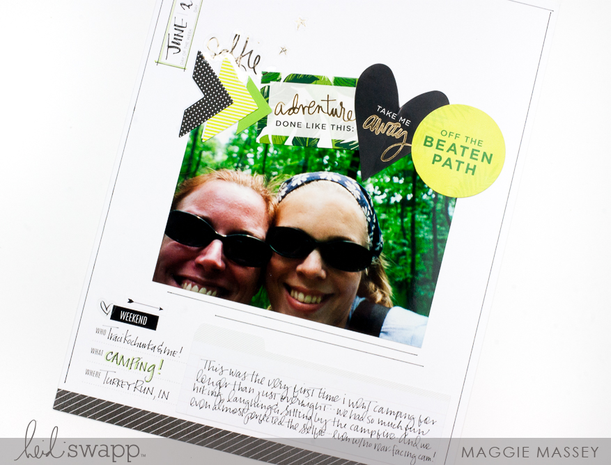 Using the Heidi Swapp Storyline Collection to document older photos | Maggie Massey for Heidi Swapp