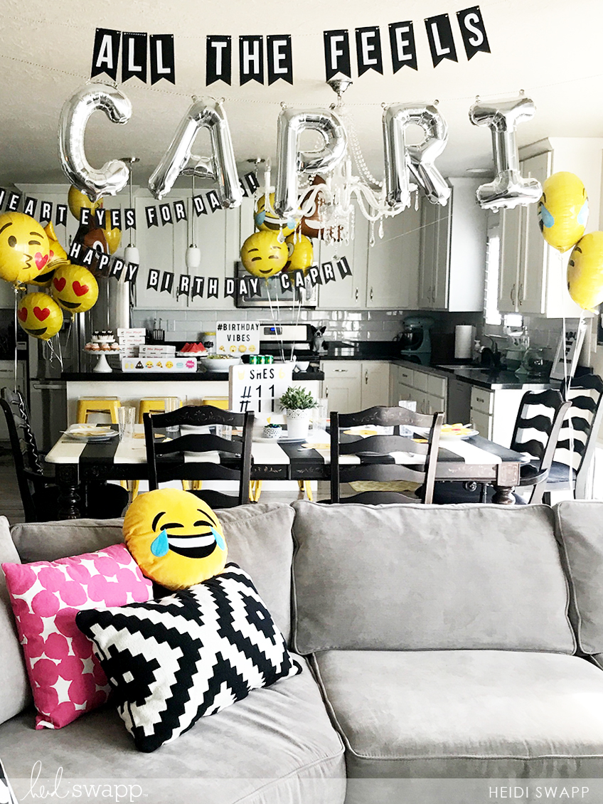Heidi Swapp Emoji Birthday Party Inspiration @heidiswapp