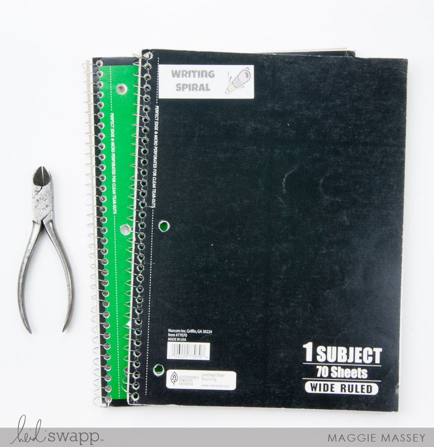 Revitalize those old notebooks with a Minc Foiled Cover   Minc It Monday   Maggie Massey for Heidi Swapp