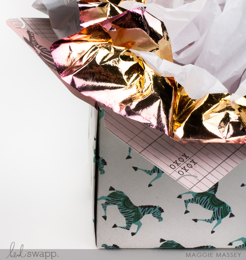 Add Foil to Your Tissue Paper to Dress Up Your Gifts! Maggie Massey for Heidi Swapp