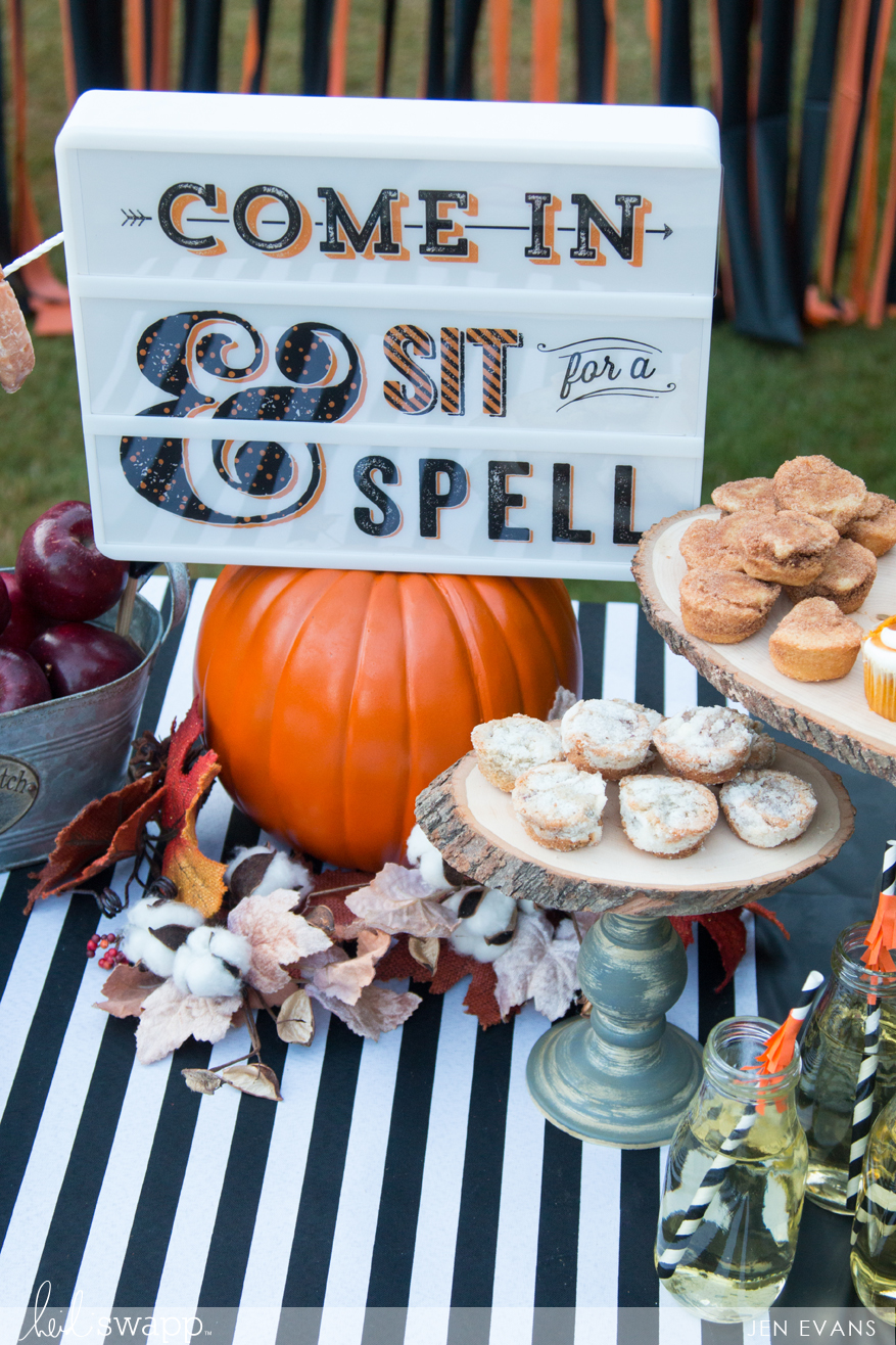 Halloween party hacks using the Lightbox by @createoften for @heidiswapp