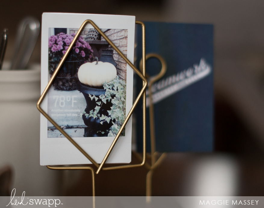 Easily create an autumn centerpiece with Instax Vintage   Maggie Massey for Heidi Swapp