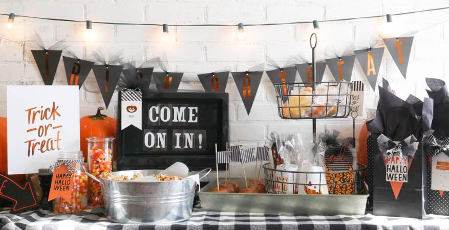 How to Create a Halloween Party Spread Heidi Swapp Style by Jamie Pate | @jamiepate for @heidiswapp