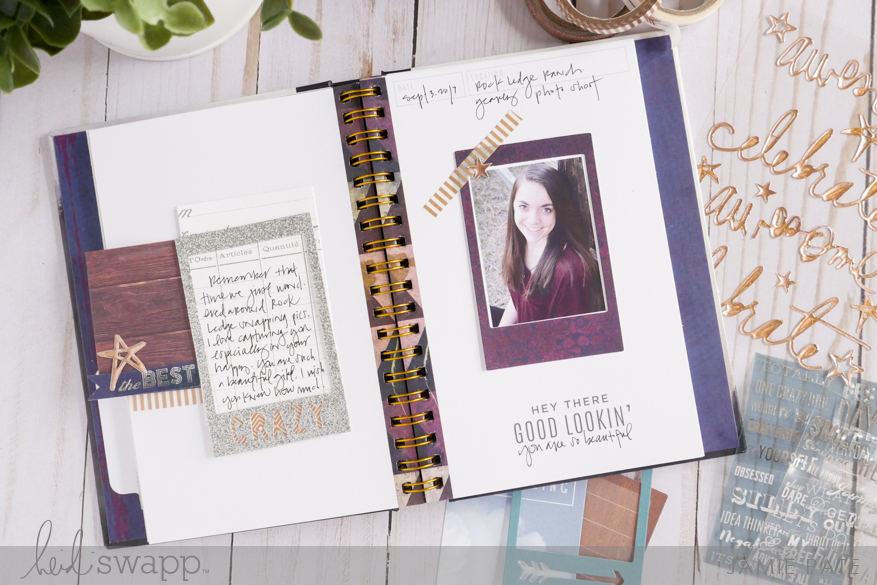 New Heidi Swapp Instax Vintage Prompt Album by Jamie Pate | @jamiepate for @heidiswapp