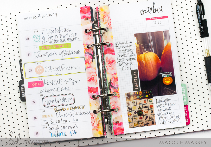 Planning with the new Heidi Swapp Sticker Book! Now at Hobby Lobby | Maggie Massey for Heidi Swapp
