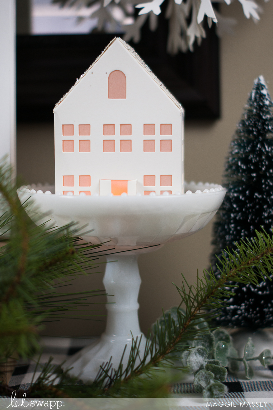 A Little Heidi Swapp Christmas Vignette :: Letterboard & Paper Houses | Maggie Massey for Heidi Swapp