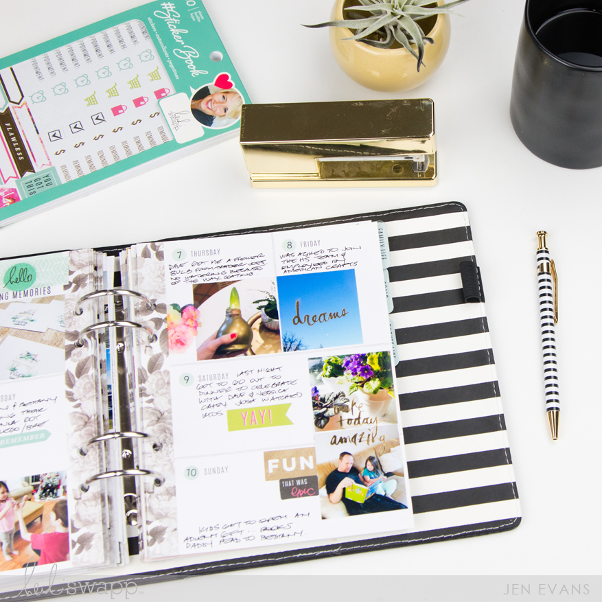 Finished Memory Planner Pages by @createoften for @heidiswapp