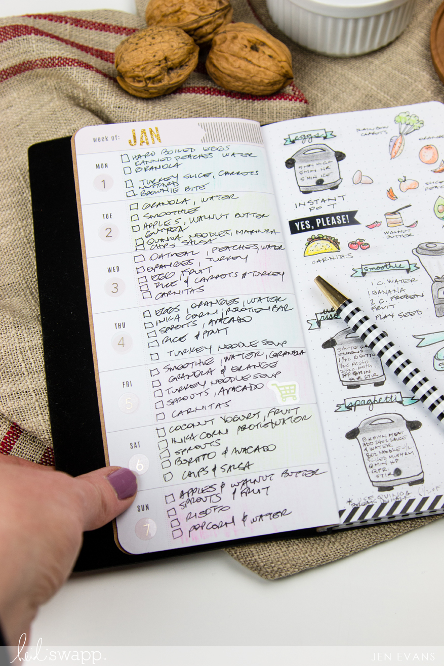Meal Planning Bullet Journal Electric Pressure Cooker Recipes by @createoften for @heidiswapp