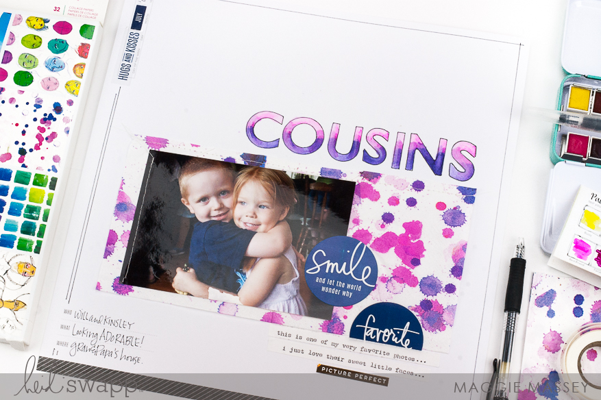 Using Mixed Media on a Storyline layout | Maggie Massey for Heidi Swapp