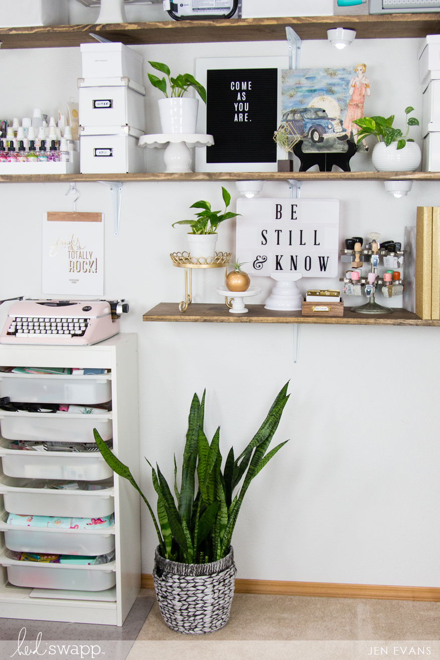 Craft Room Makeover and How to Get the perfect MINC Foil by @createoften for @heidiswapp
