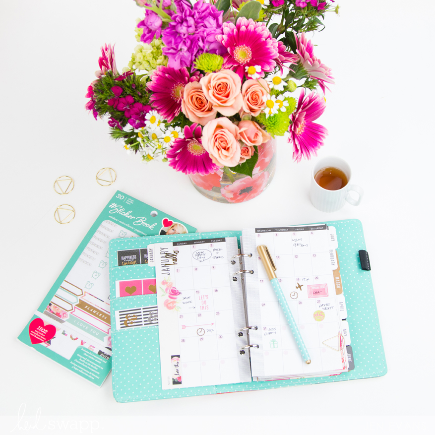 Planner Reset using just stickers by @createoften for @heidiswapp
