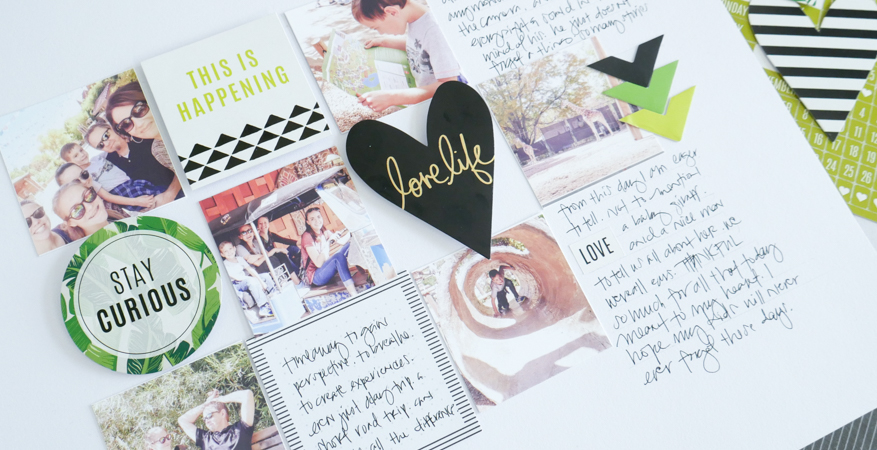 Create a grid layout with Heidi Swapp Storyline Collection by Jamie Pate | @jamiepate for @heidiswapp