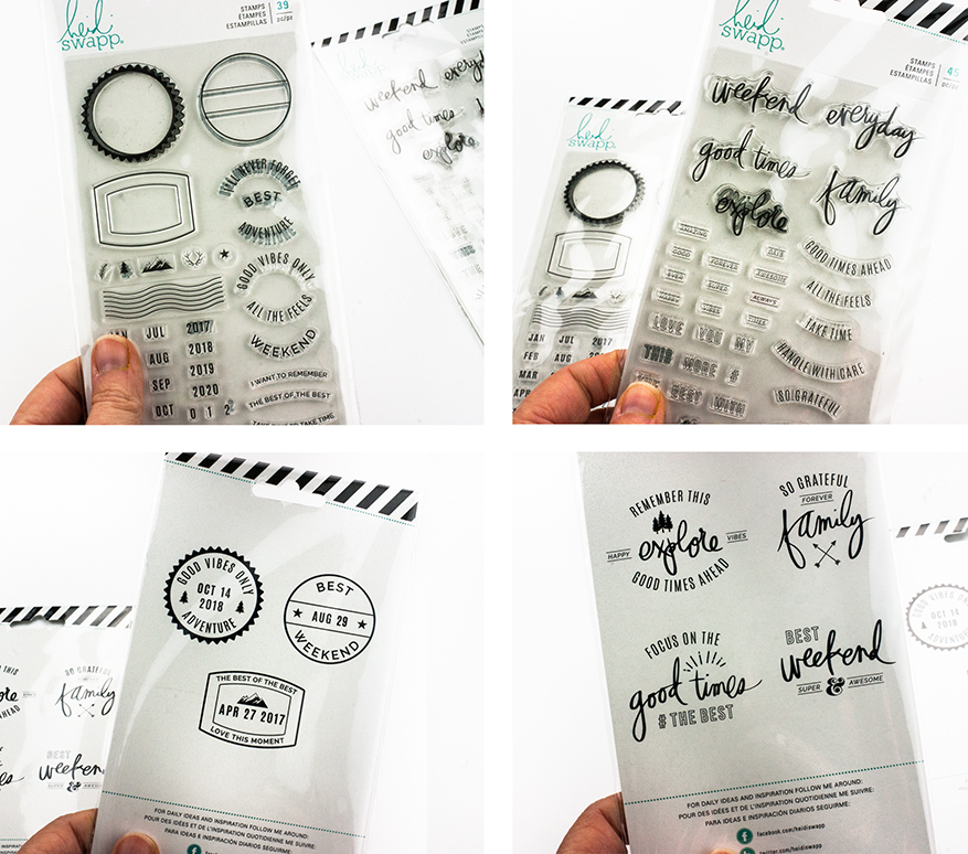 A look at the stamps from the new Hawthorne Collection by Heidi Swapp | Maggie Massey