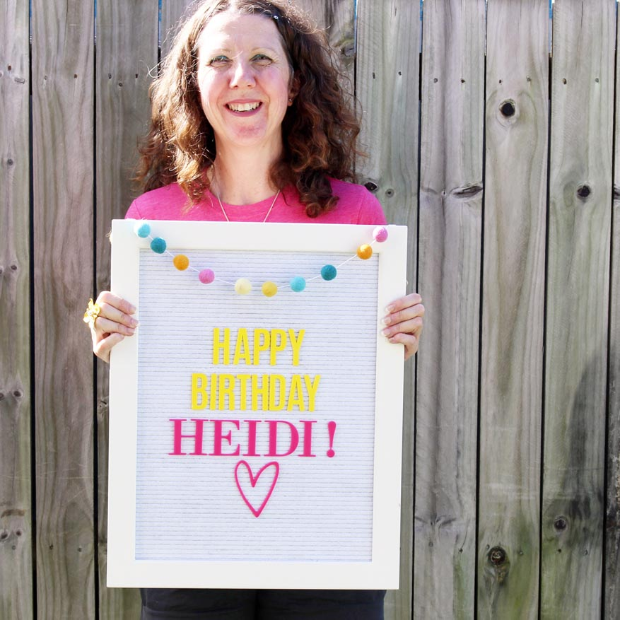 Happy birthday @heidiswapp Letterboard and Lightbox inspiration