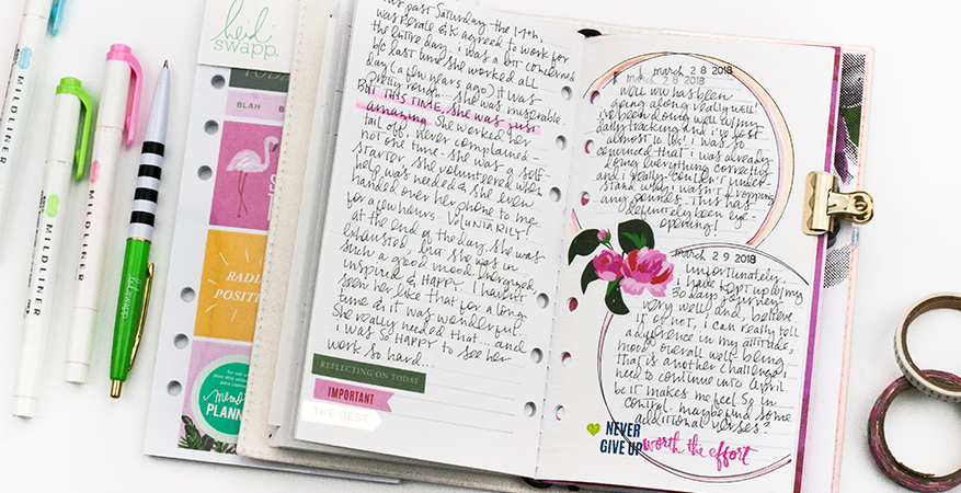 A Look Inside my 2018ex Fresh Start Travel Journal | Feb/Mar 2018 | Maggie Massey for Heidi Swapp