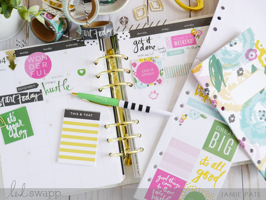 Five Ways to use Heidi Swapp Fresh Start Stickers by Jamie Pate | @jamiepate for @heidiswapp