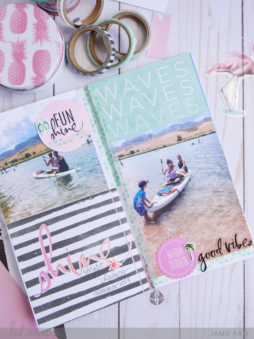 Celebrate Summer Memories with Heidi Swapp Pineapple Crush by Jamie Pate | @jamiepate for @heidiswapp