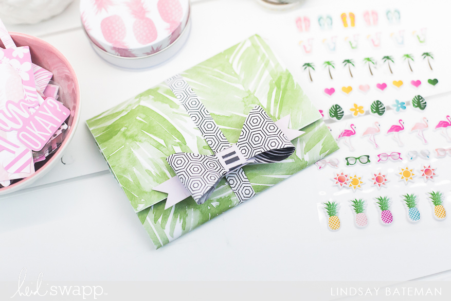 pineapple crush mini album I @lindsaybateman for @heidiswapp