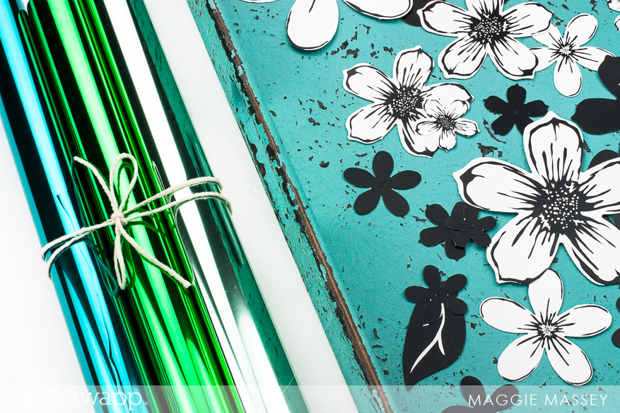 Creating layered flowers with the Heidi Swapp Minc & Reactive Foil | Maggie Massey for Heidi Swapp