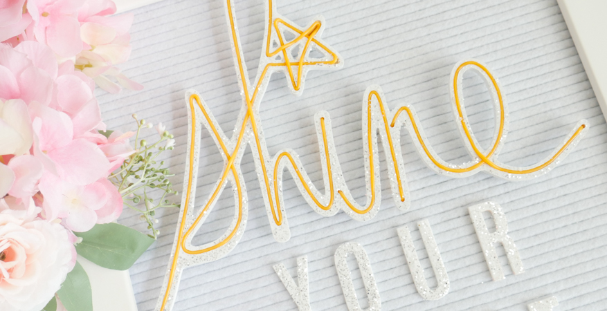 How To Glitter and Shine with Heidi Swapp Neon Wall Words by Jamie Pate | @jamiepate for @heidiswapp