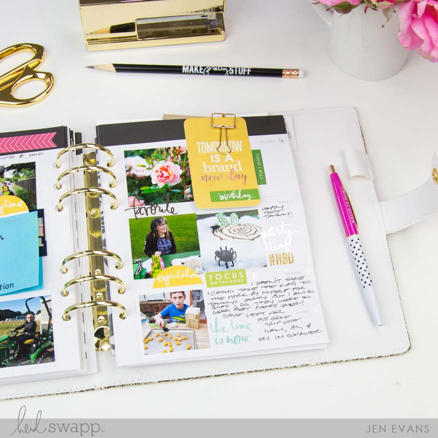 Finished June Memory Planner Pages by @createoften for @heidiswapp