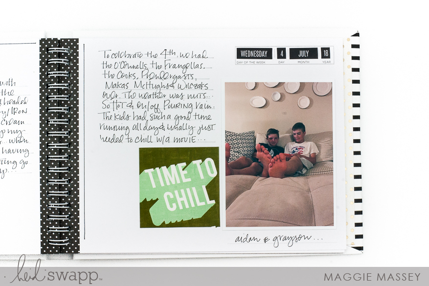 The new Storyline Mini Album :: a look inside our summer | Maggie Massey for Heidi Swapp