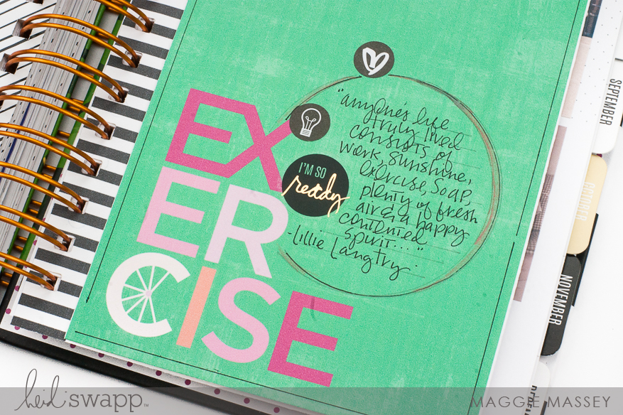 A look inside my Memory Planner :: July 2018 | Maggie Massey for Heidi Swapp